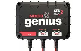 מטען מצברים מיני 8A עם אפשרות חיבור ל-2 מצברים במקביל GENM2