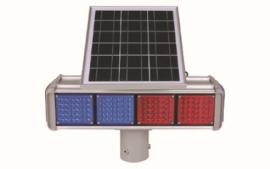 פאנל סולארי + תאורה אדום כחול – 4 מנורות